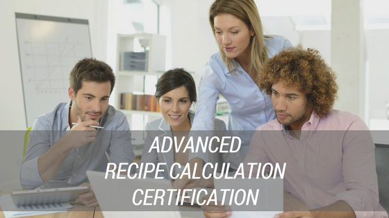 Advanced Recipe Calculation Certification by Nutritics