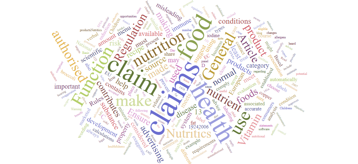 Using Nutritics to support the use of Health Claims in Europe