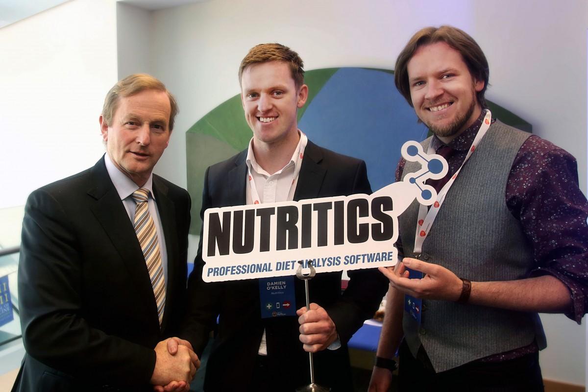 An taoiseach, Enda Kenny meets the Nutritics Co-Founders