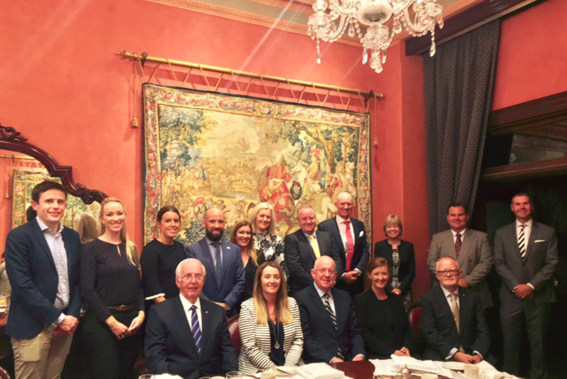 Nutritics present to a trade delegation of executives alongside an Irish Government delegation in Australia