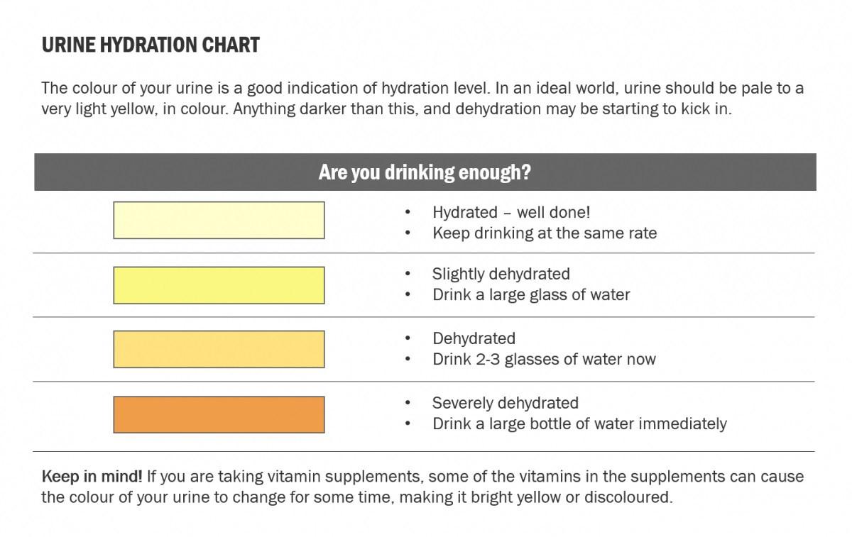urine hydration chart