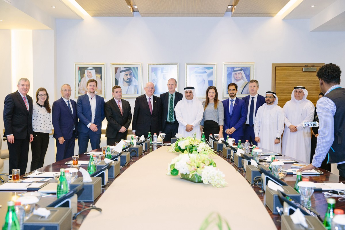 Nutritics CEO Damian O'Kelly pictured with key Middle East industry leaders.