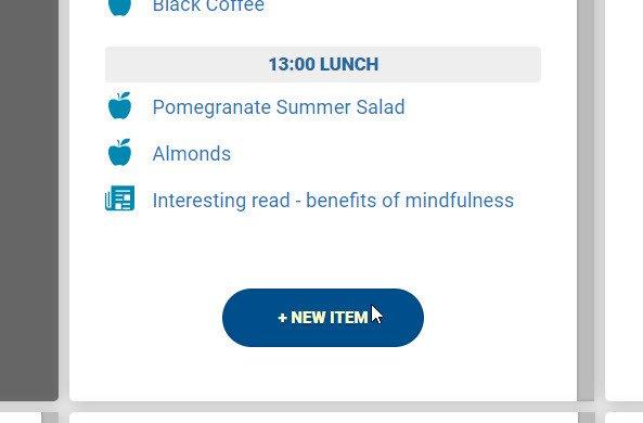 nutritics programs schedule meeting