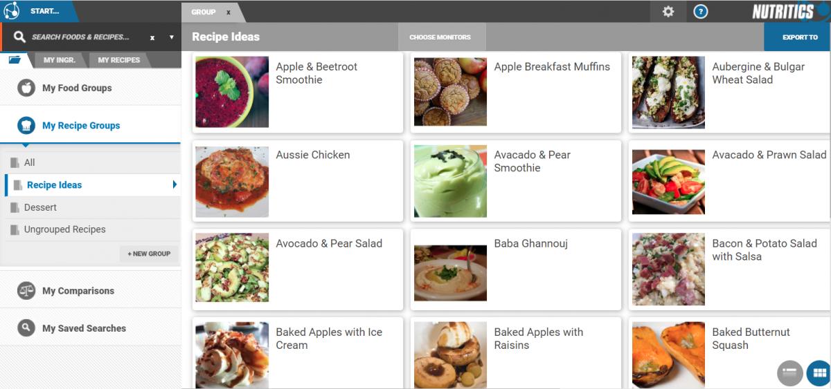 nutritics recipe ideas, nutritics recipes, nutritics meal plan
