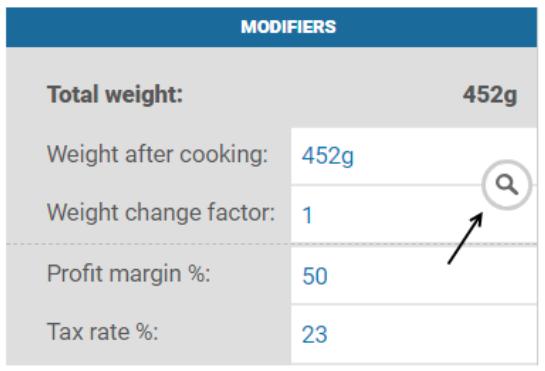 weight change factor nutritics